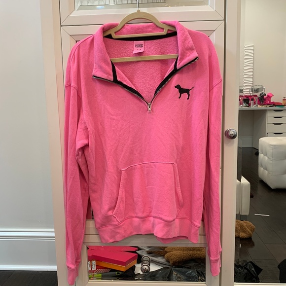 1940cbe56a4df 2 FOR 45$ SALE !! Half-Zip Pullover NEON PINK